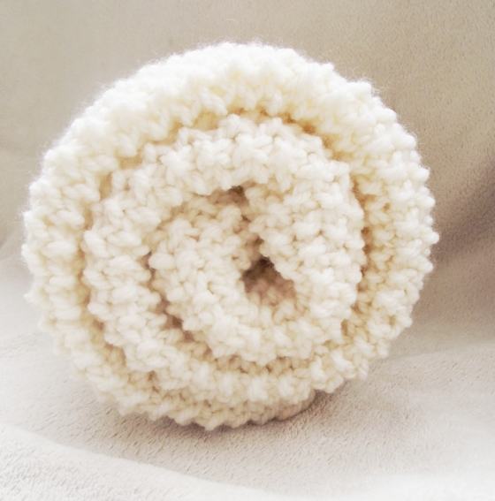 baby knit blanket white 1