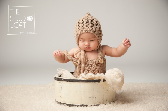 the studio loft romper and bonnet